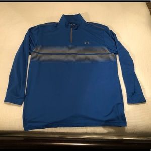 Under Armour Mens 1/4 Zip Golf Pullover Coldgear L
